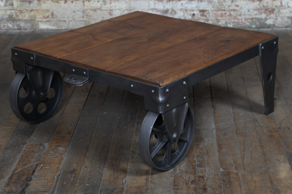 ... Industrial Cart Coffee Table (refinished). Sale! 8299_1338518651_9